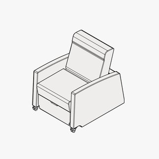 Drawing of Muzo's Remedy nursing chair