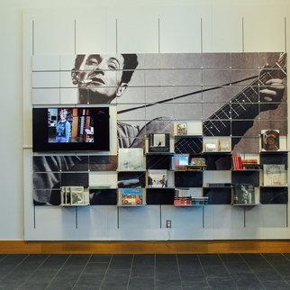 Folk singer Woody Guthrie Muzo shelving system
