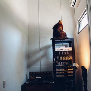 Storage area in music studio