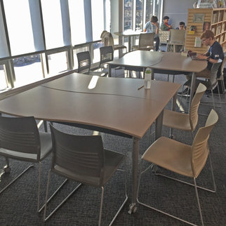 Wave tables pictured in library