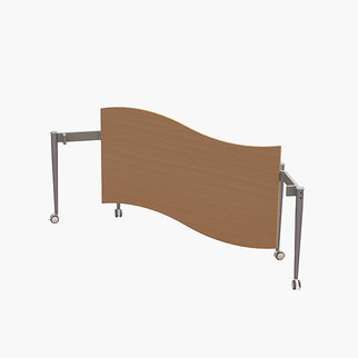 The Wave table pictured in a folded position