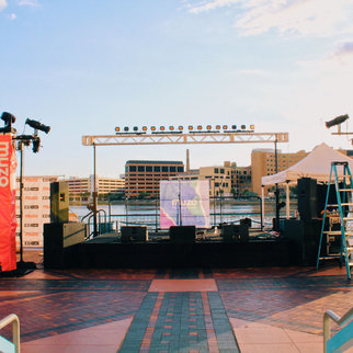 The stage at Muzo's EDfest 2019