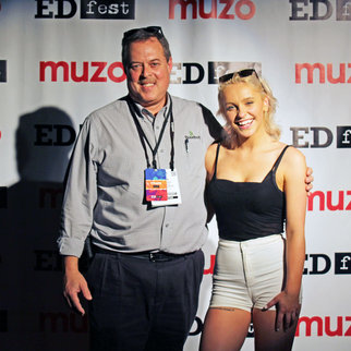 People pictured on the red carpet at Muzo's EDfest event 2019