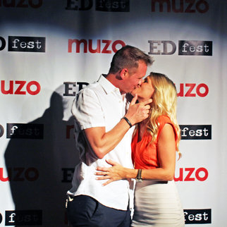 Couple kissing on the red carpet at Muzo's EDfest event 2019