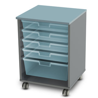 High, single drawer Stash unit from Muzo