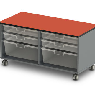 Low, double width Stash unit from Muzo