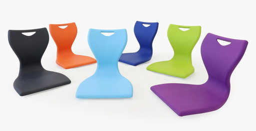 The MBob floor chair range in various colors