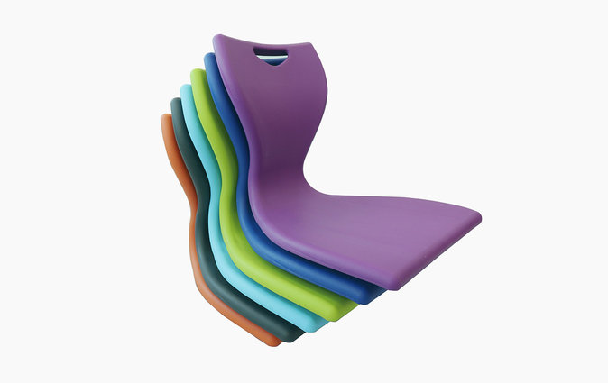 MBob floor chair stacked in various colors