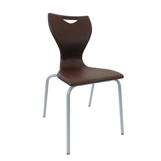 The MBob chair in chocolate brown