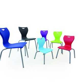 The MBob chair shown in various seat heights and colors