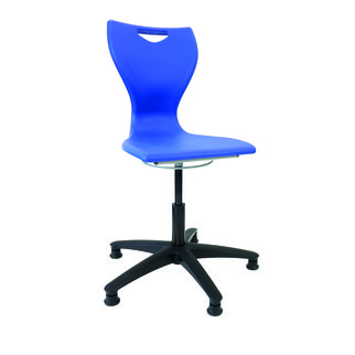 Royal blue MBob swivel chair with adjustable height
