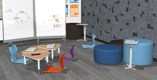 Super Low Versatilis tables used in a classroom
