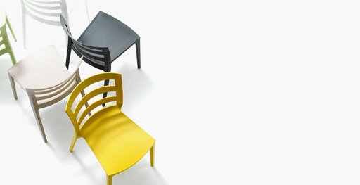 Muzo Town chairs in yellow and black