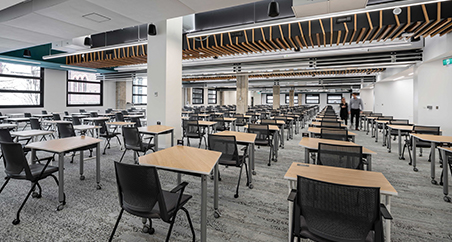 Muzo furniture used in a higher education setting