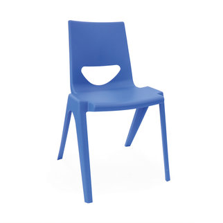 A blue K-seat chair