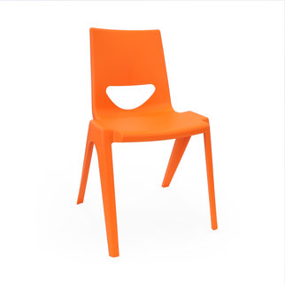 An orange K-seat chair