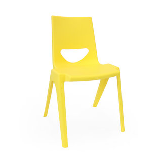 A yellow K-seat chair