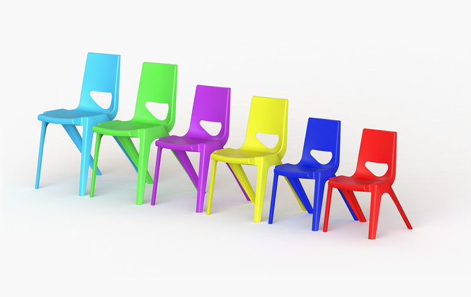 K-seat chairs shown in various seat heights