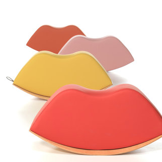Muzo's Lips soft seat rocker is available in a range of colors