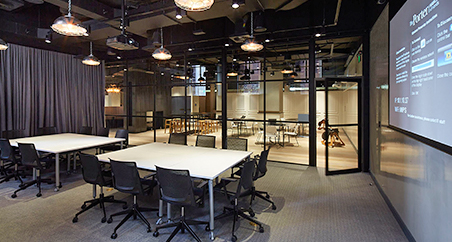 Muzo furniture used in a meeting room