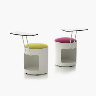Two R2 stools with storage and writing tablets