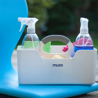 A Muzo Stashbox storing cleaning products
