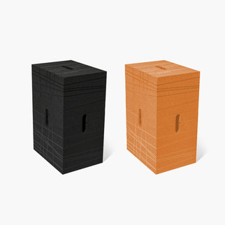 The Xbrick is available in a range of colors including black and orange